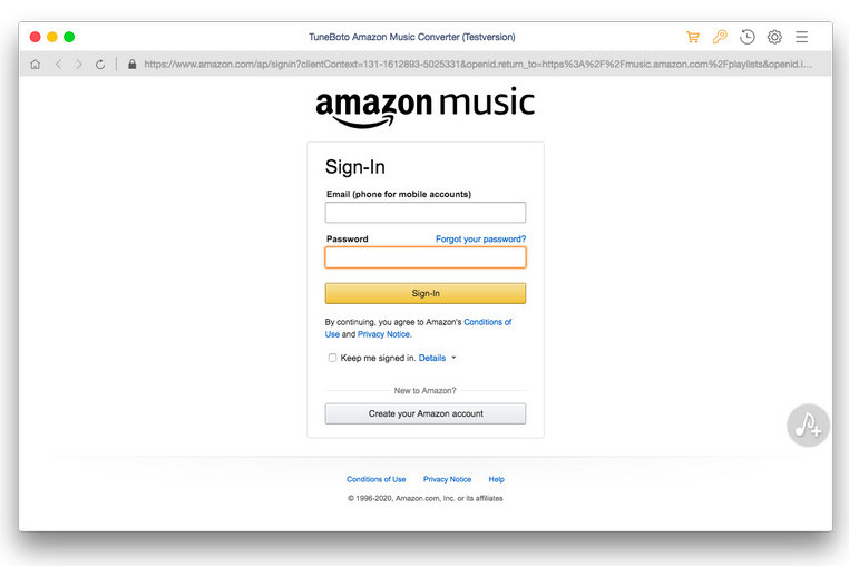 Amazon Music Converter laufen