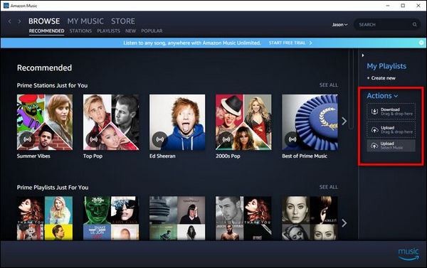 music zu amazon music hochladen