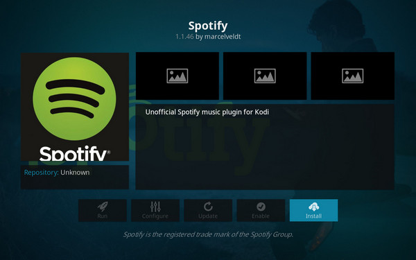 download spotify add on
