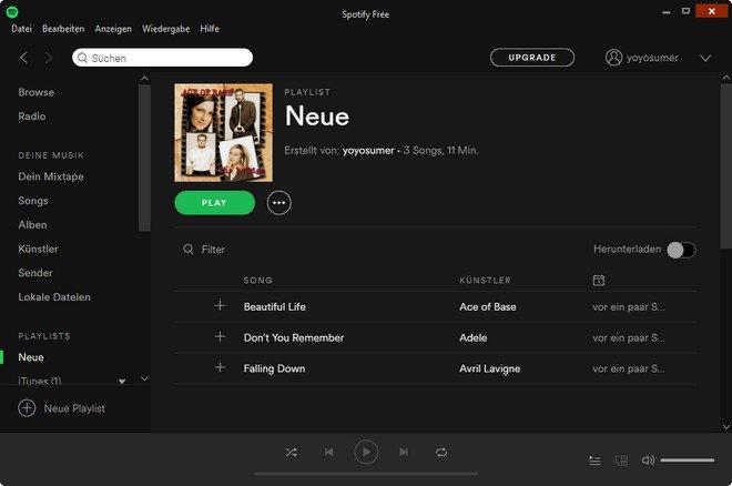 lieder auf spotify hochladen