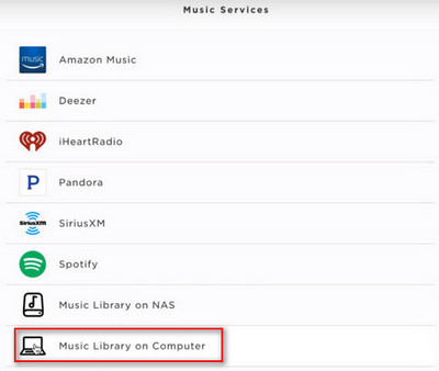 music library on computer
