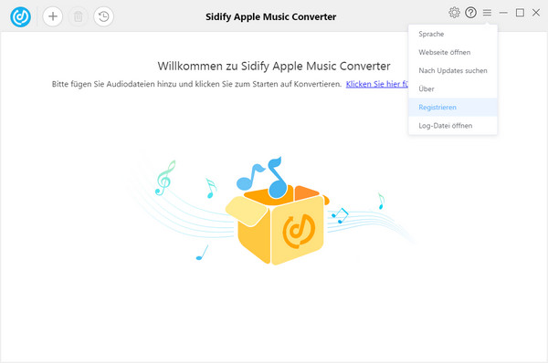 wie registrieren Sie Apple Music Converter Windows