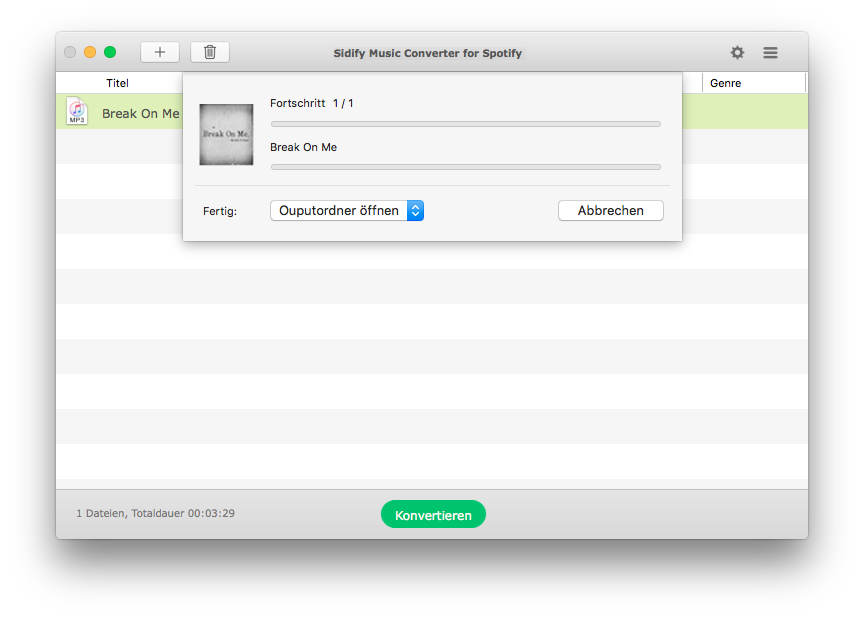 Start Converting Spotify Files